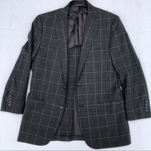 Fitzgerald Brookscool Gray CHECK Blazer 38S Qtr Li